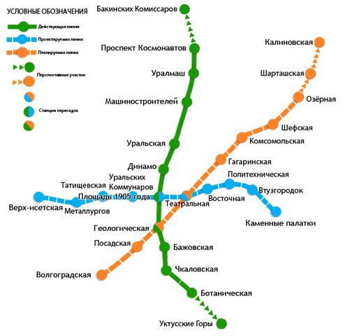 Схема метро по городу